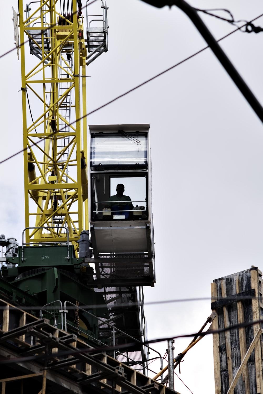 Crane Operator in a cab