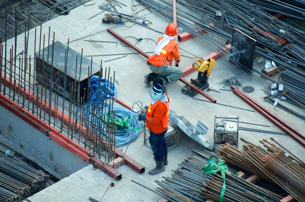 workers wearing adequate PPE while on-site