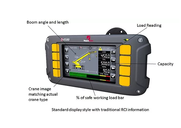 i4500 crane load moment indicator for telescopic boom cranes by Rayco Wylie.