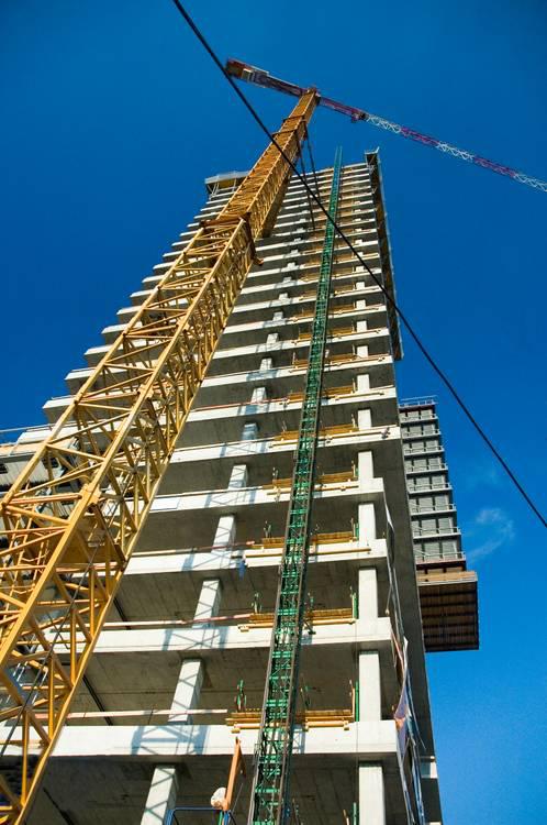 Crane on a construction site.