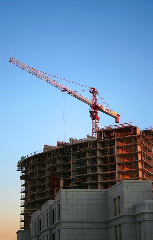 a tower crane operation