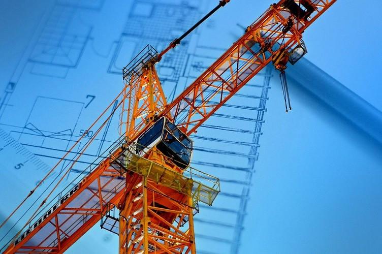 Crane at a construction project