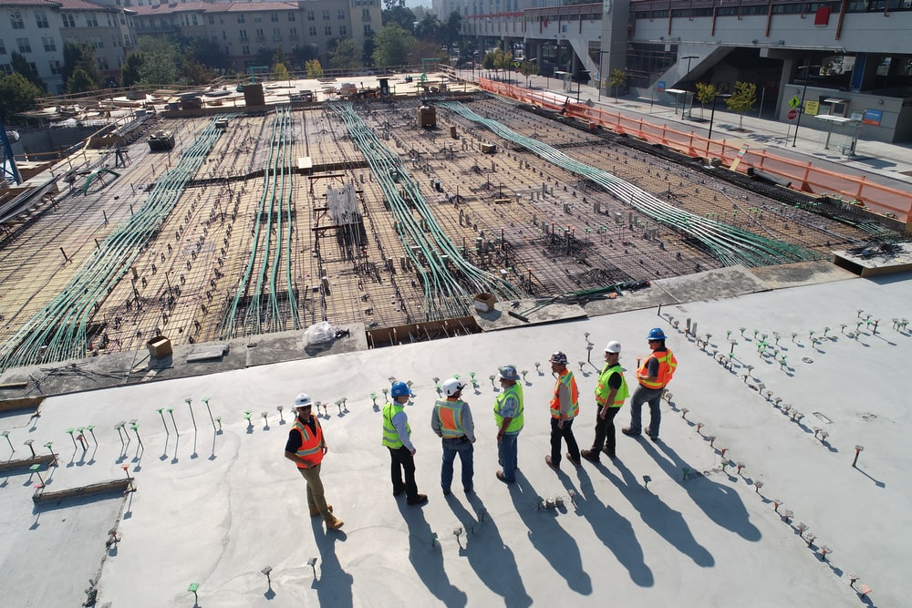 operational managers at a construction site