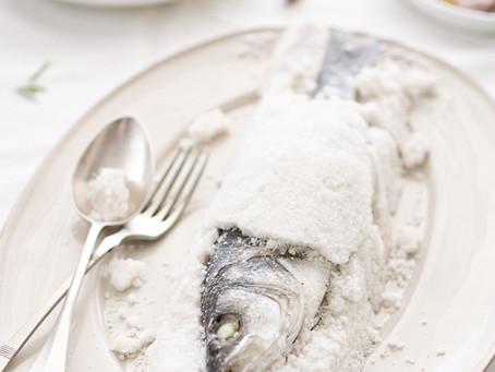 Brancin pečen u soli