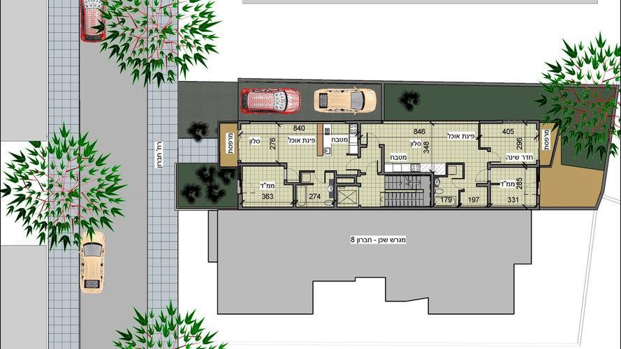 חברון 8, תכנית קומה טיפוסית