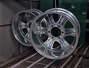 Powder coating and drying of metal auto