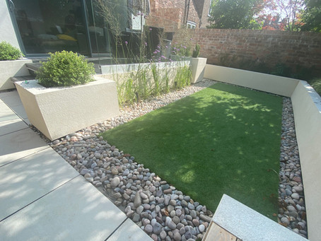 Rendered Walls in Contemporary Garden Design