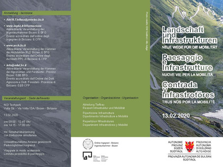 Landschaft und Infrastrukturen - neue Wege für die Mobilität, Seminar der Landesabteilung Tiefbau