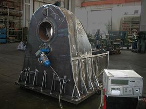Struttura metallica sottoposta a trattamento di distensione a mezzo vibrazioni