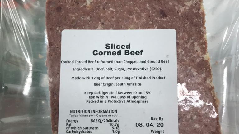 Sliced Corn beef 500G