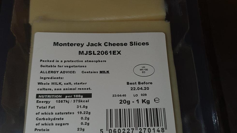 Monterey  Jack Slices x20 1Kg
