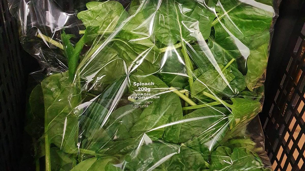 SPINACH PRE PACKED 200G