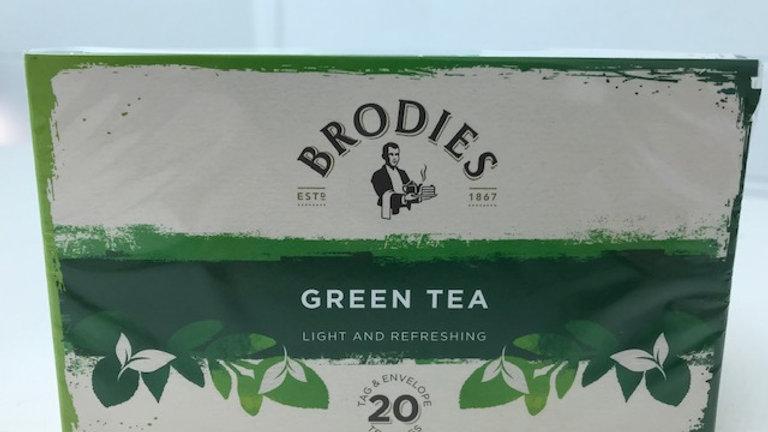 Brodies Green Tea Bags (20)