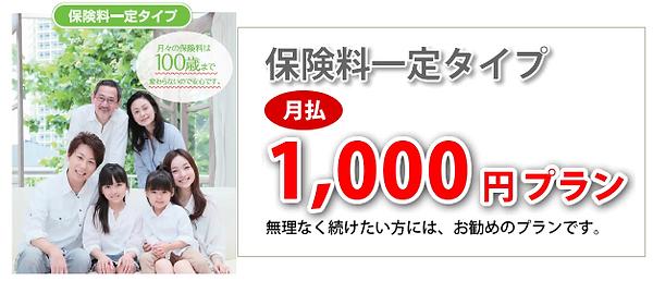 保険料一定1000円プラン