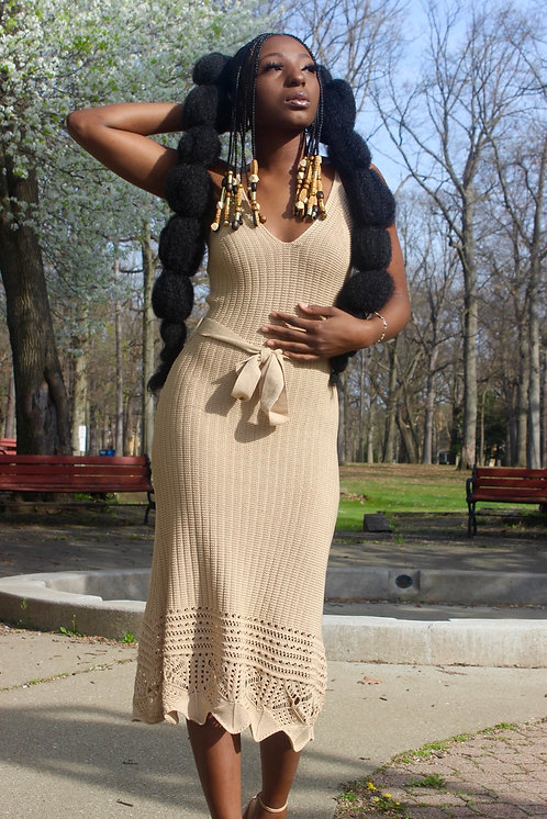 Rooted Nude Dress