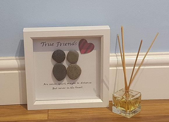 True Friends Pebble Art