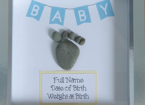 Baby Foot Print Pebble Art