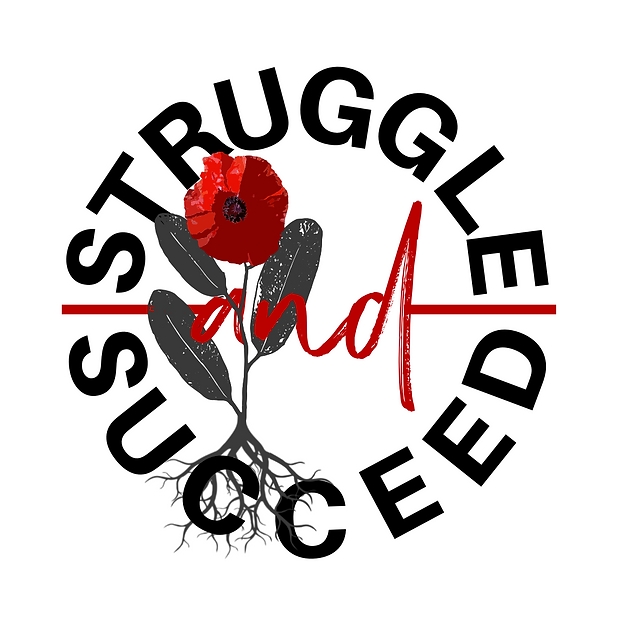 STRUGGLE AND SUCCEED LOGO w_ FLOWER AND