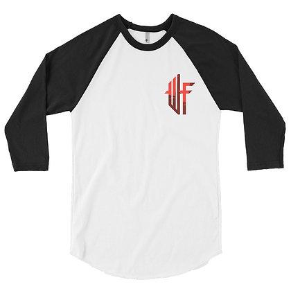 Male Won't Fail Red 3/4 sleeve raglan shirt