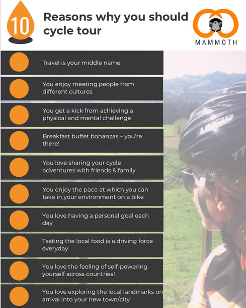 Top 10 Reasons to go Cycle Touring