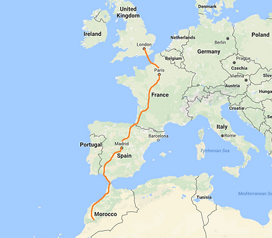 Cycling Holidays Across Europe to Morocco