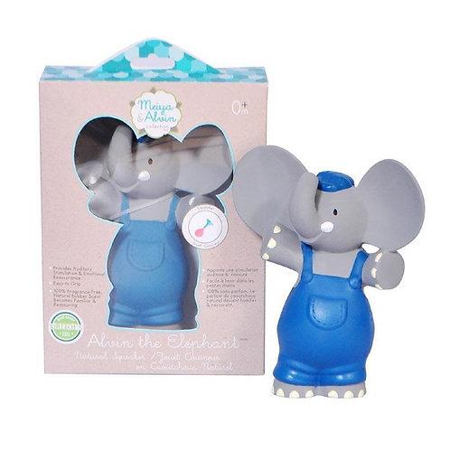 Juguete Chirriador de Goma Alvin el Elefante