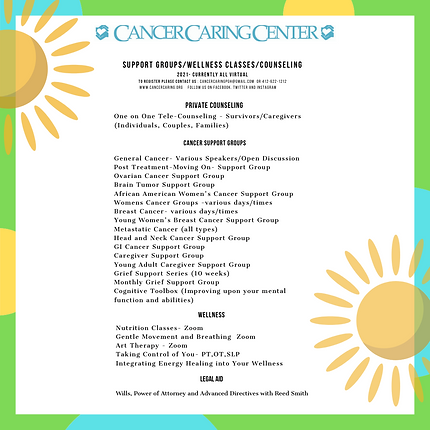 Insta  Cancer Caring Center Flyer 15  2.