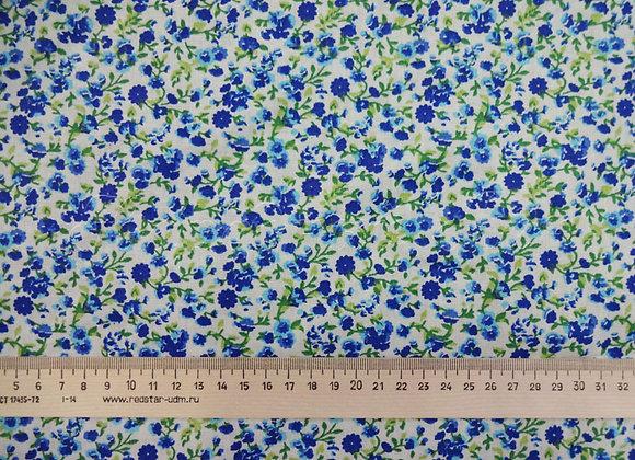 Ткань плательная Мильфлёр голубой