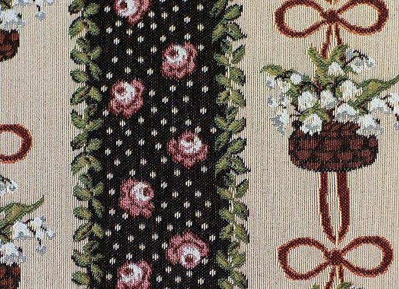 Гобеленовая ткань Ландыши винтаж