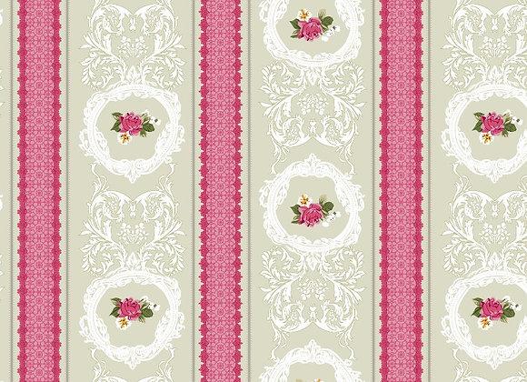 Поплин Традиция Розовая полоска