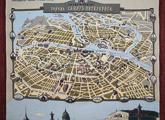 Гобеленовое панно Карта Санкт-Петербурга
