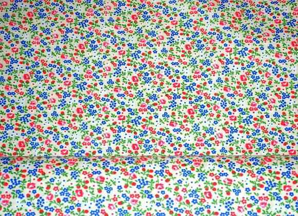 Ткань плательная Цветочки на бежевом