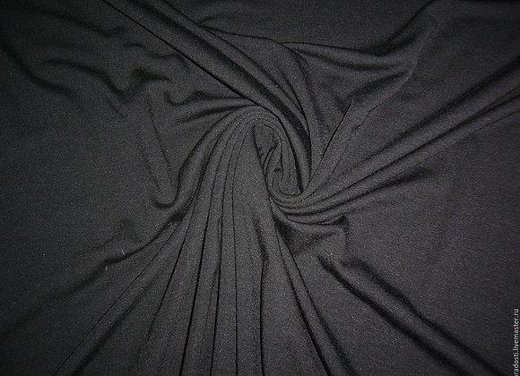 Ткань трикотажная черная