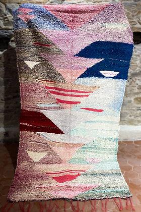 Kilim en Coton Pastel 250 x 100