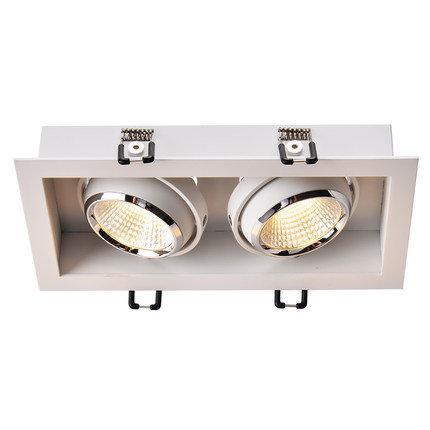 Встраиваемый светильник с рамкой DS-031BW80 белый, черный