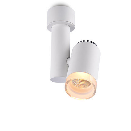 Накладной поворотный светильник DP-023G60 со стеклянным ободом