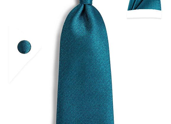 Doral Chambray Teal Gift Set