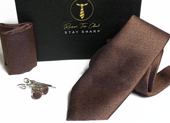 Doral Chambray Brown Gift Set