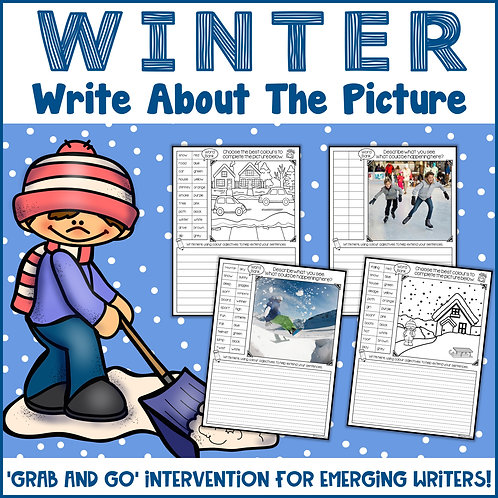 Winter Write About the Picture {also editable}