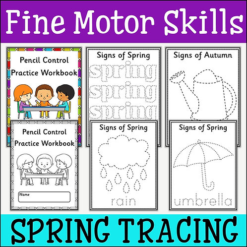 Fine Motor Skills: Signs of Spring Tracing