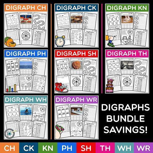 Phonics: Digraphs Bundle Plus Revision and Assessment