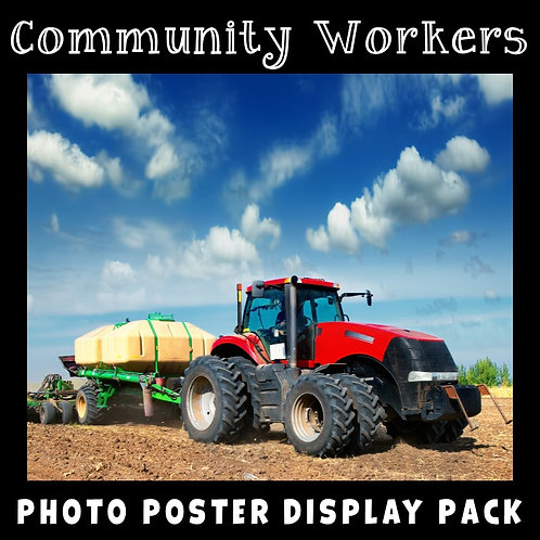 Community Workers Photo Poster Display Pack
