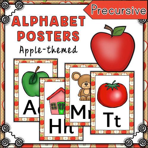 Apple Themed Alphabet Posters Frieze