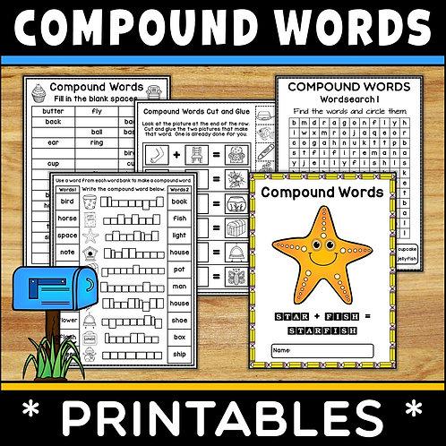 SPAG: Compound Words Printables