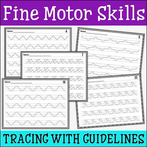 Fine Motor Skills: Tracing With Guidelines