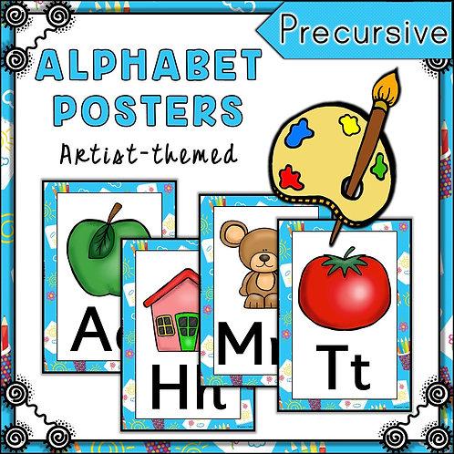 Little Artist Themed Alphabet Posters Frieze