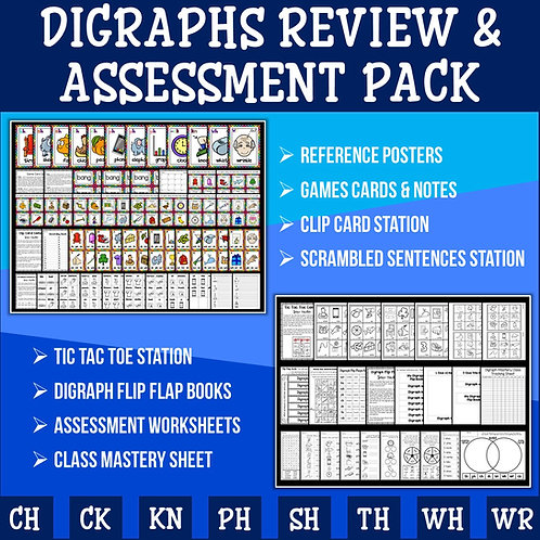 Phonics: Digraph Revision and Assessment Pack