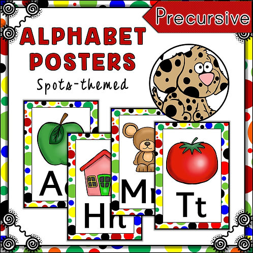 Spots Themed Alphabet Posters Frieze