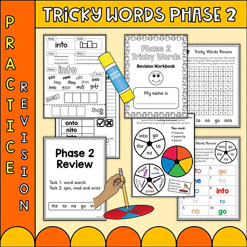 Phonics Phase 2 Tricky word worksheets