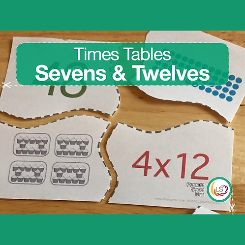 Times Tables_Matching 7s 12s